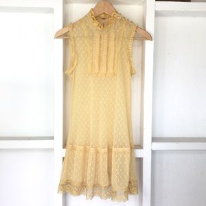 Free People Sheer Stretch Lace Dress S